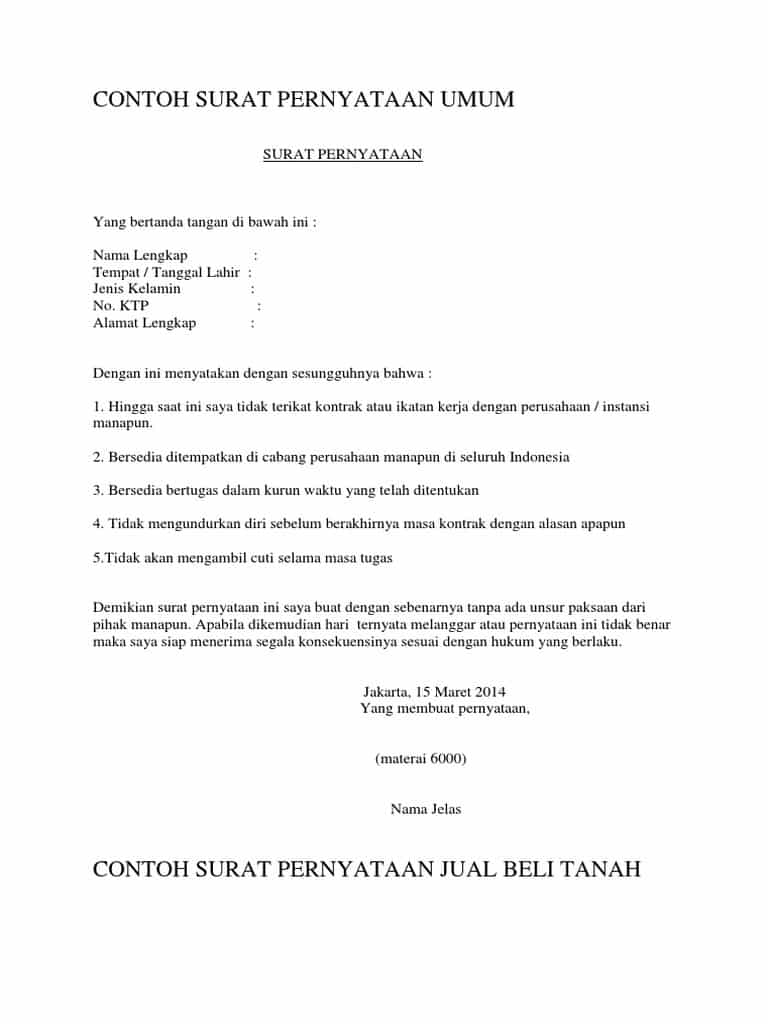 Contoh Kontrak Kerja Dengan Penalti : 16 Contoh Surat ...