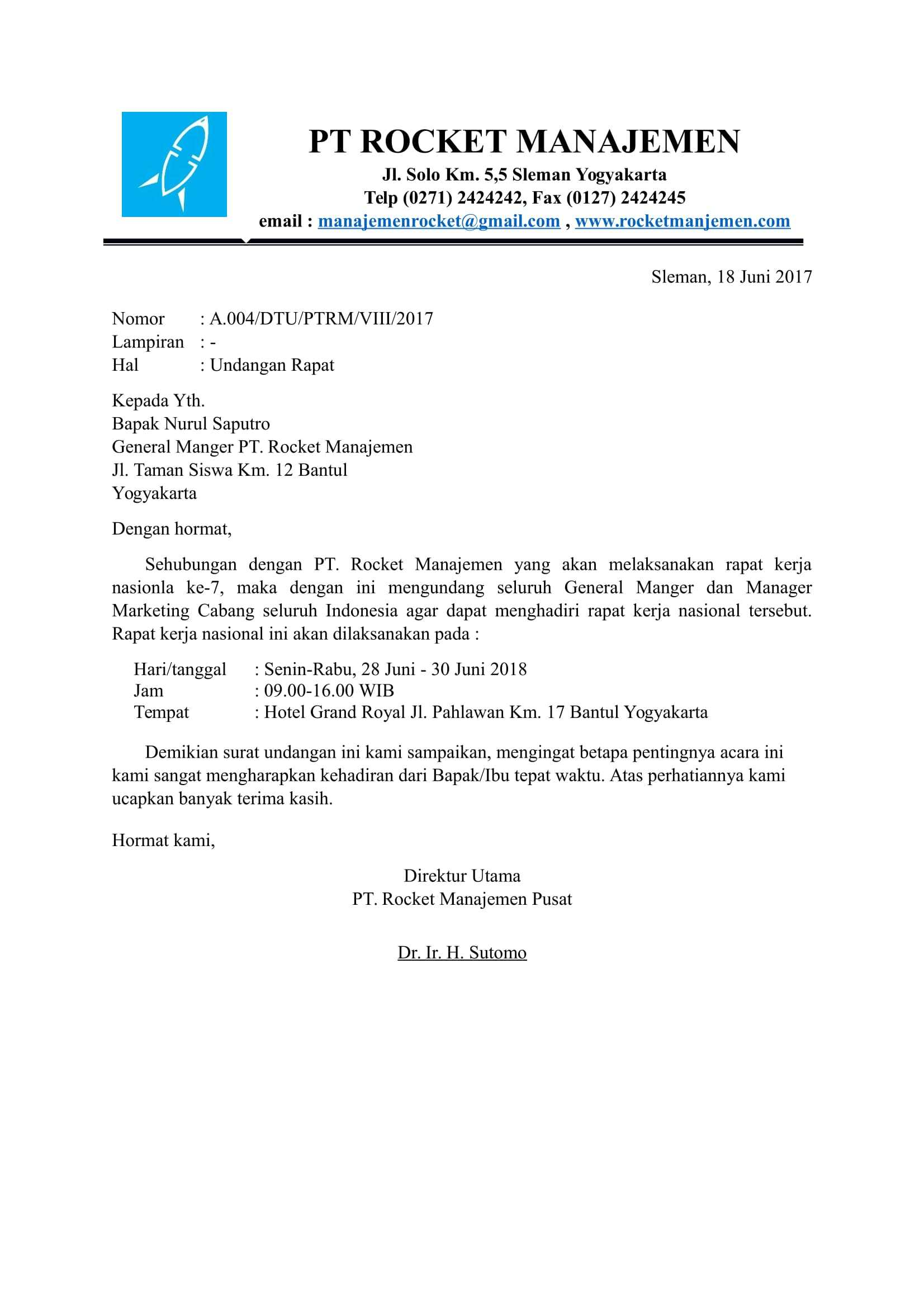 contoh surat undangan resmi perusahaan 2