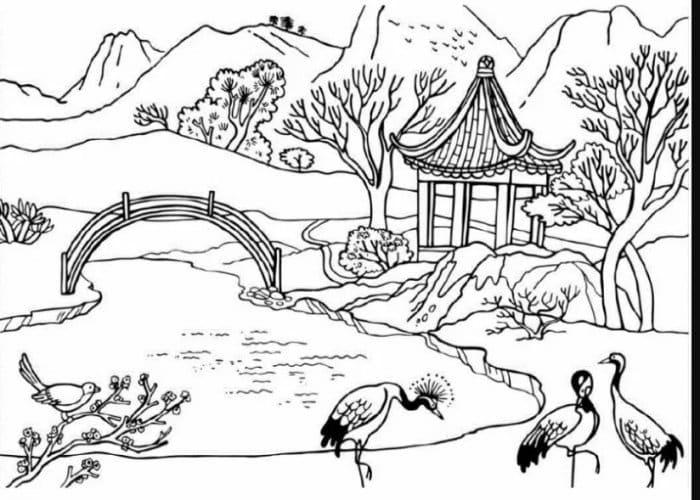 23 Gambar Sketsa Wajah Bunga Anime Pemandangan Flora Fauna