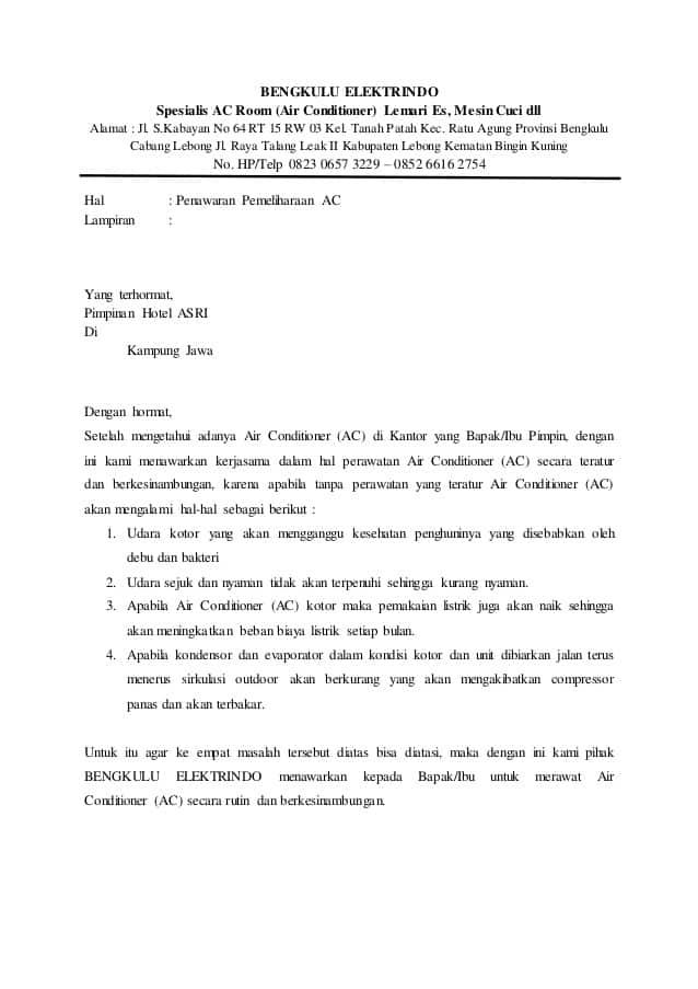 Contoh Proposal Penawaran Kerjasama Travel Untuk Kantor ...
