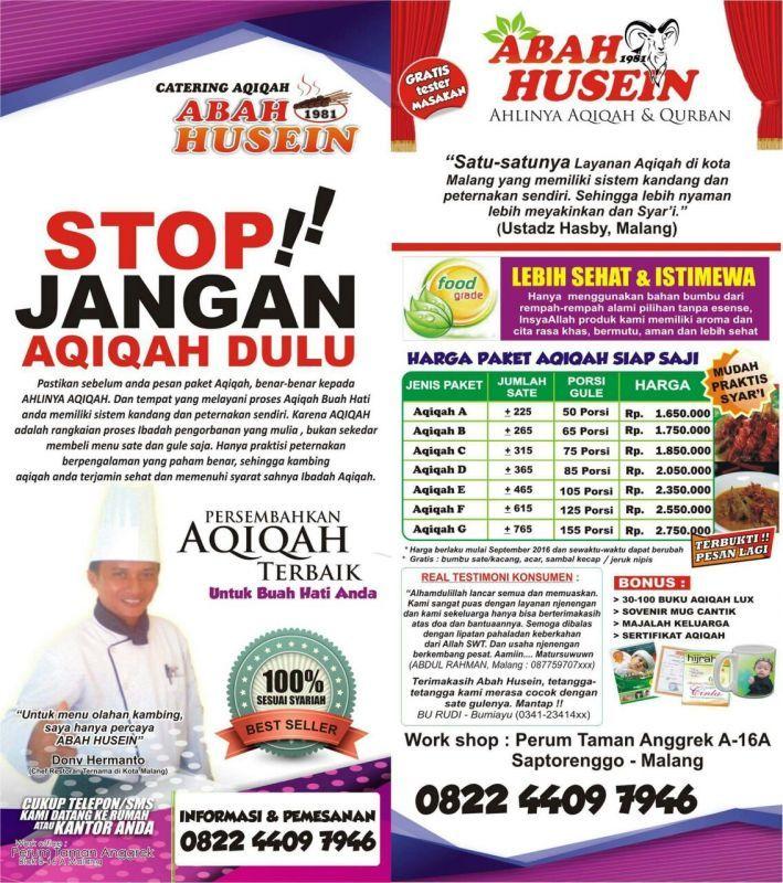 Aqiqah Malang Abah Husein
