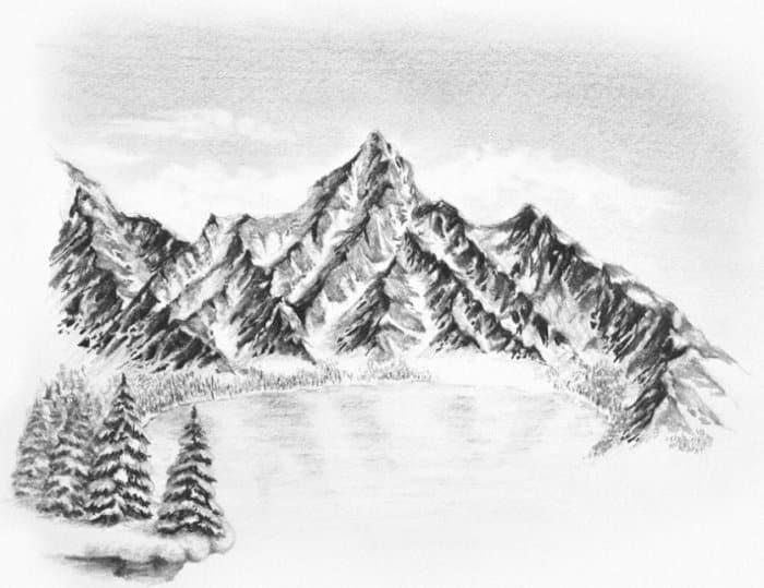 Contoh Gambar Ilustrasi Gunung