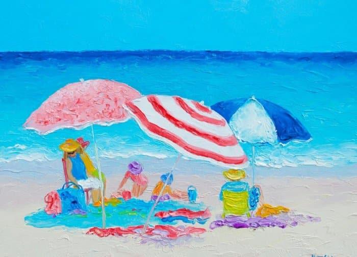 Contoh Gambar Ilustrasi Pantai