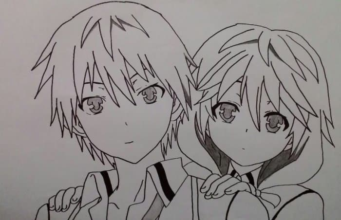 Contoh Gambar Sketsa Anime