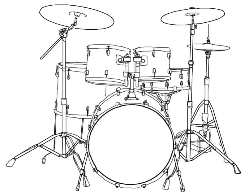 Contoh Gambar Sketsa Drum