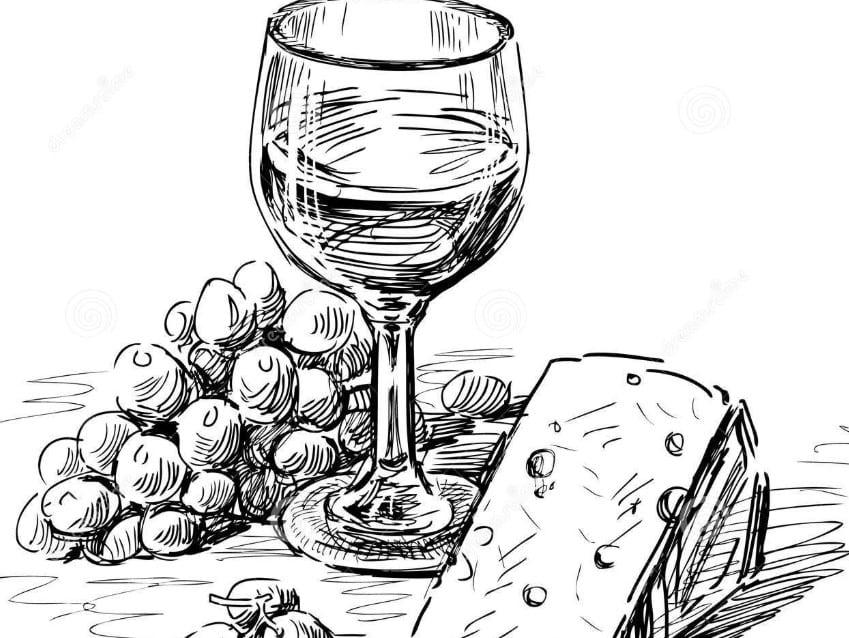 Contoh Gambar Sketsa Makanan dan Minuman