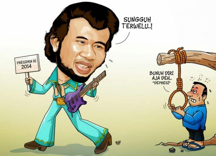 Gambar Karikatur dengan Tema Artis Lucu