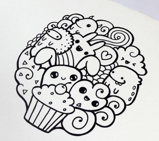 Karakteristik Dari Gambar Doodle Art Lucu