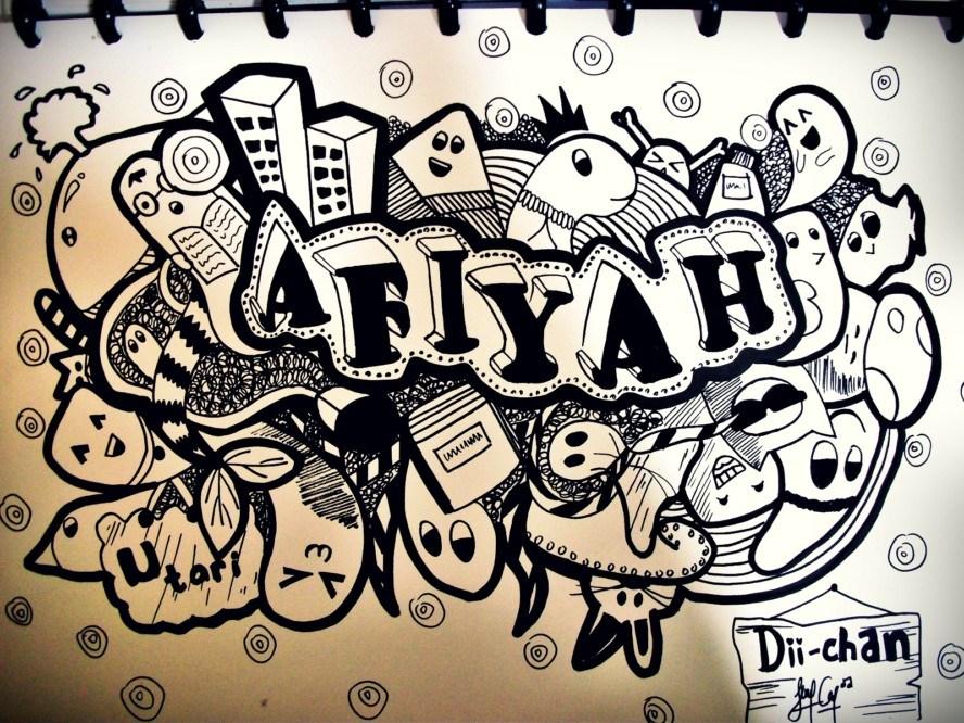 Karakteristik Dari Gambar Doodle Art Nama