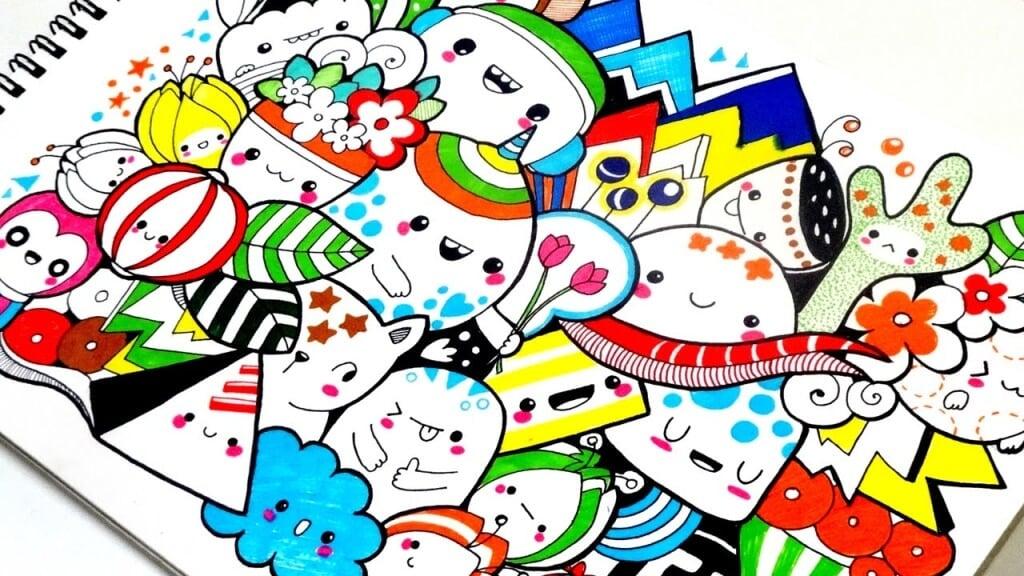 Karakteristik Gambar Doodle Art Berwarna
