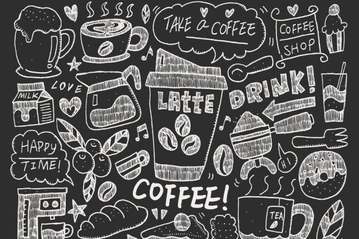 Karakteristik Gambar Doodle Art Coffee