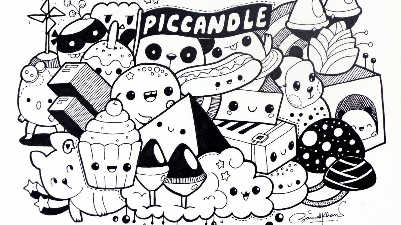 30 Gambar Doodle Art Simple Keren Lucu Beserta Cara
