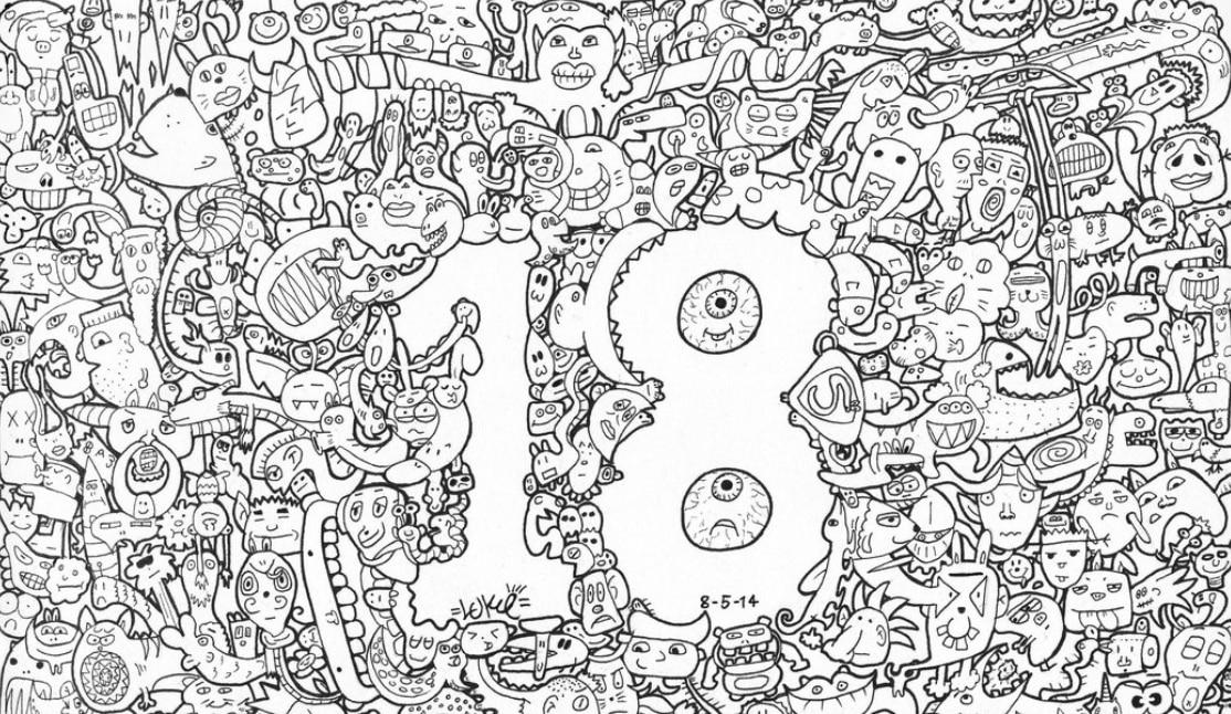 Karakteristik Pada Doodle Art Angka