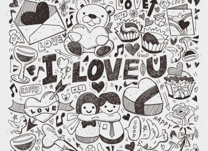Karakteristik gambar doodle art untuk kekasih