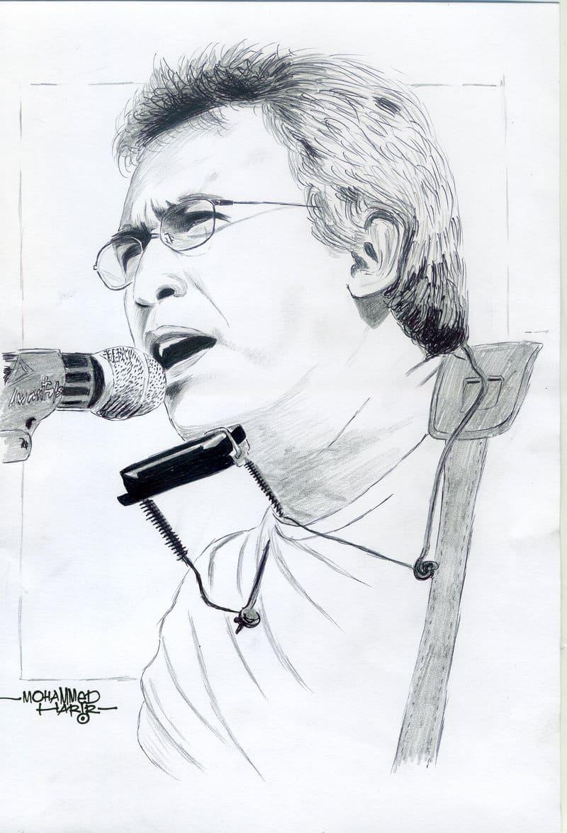 Karikatur dengan Gambar Tema Iwan Fals