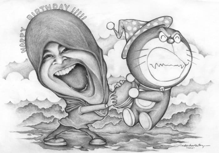 20 Gambar Karikatur Keren Lucu Berwarna Animasi Hitam Putih