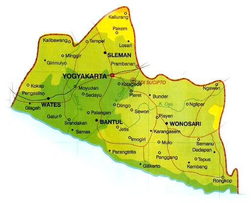 Lokasi Geografis Yogyakarta