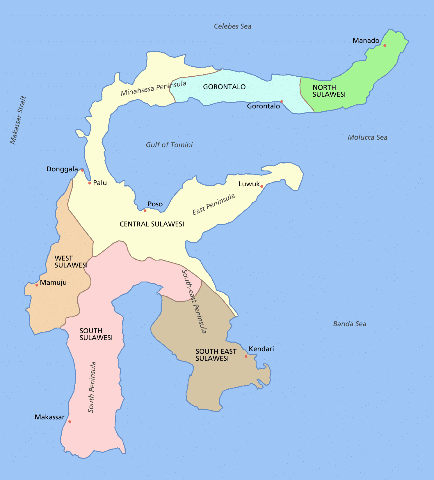Provinsi-Provinsi yang Ada di Sulawesi