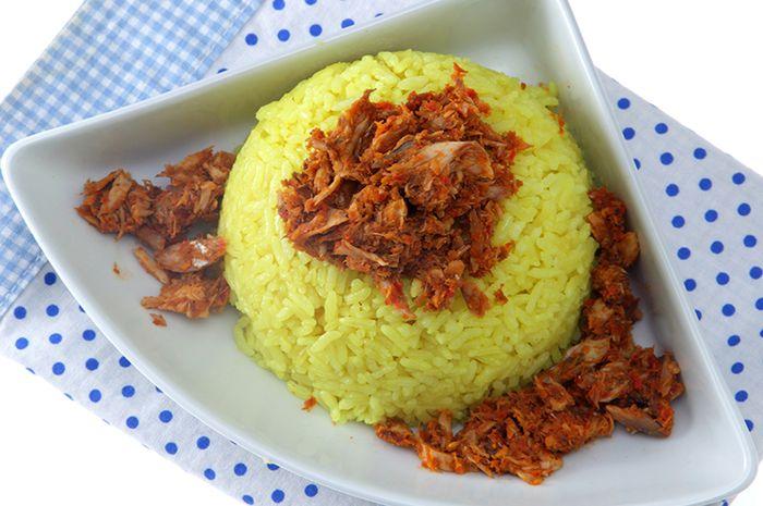 Resep Nasi Kuning Abon