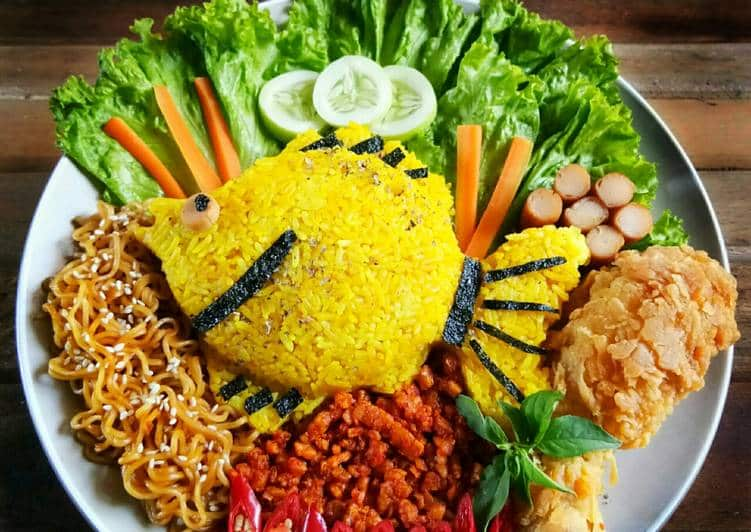 Resep Nasi Kuning Bentuk Ikan