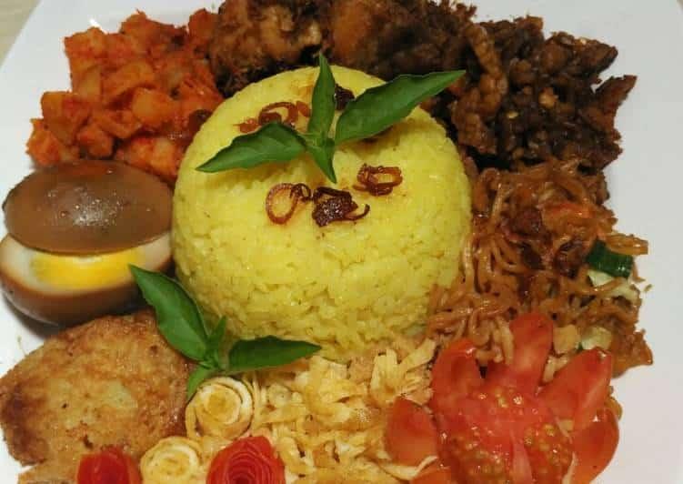 Resep Nasi Kuning Mie Ayam