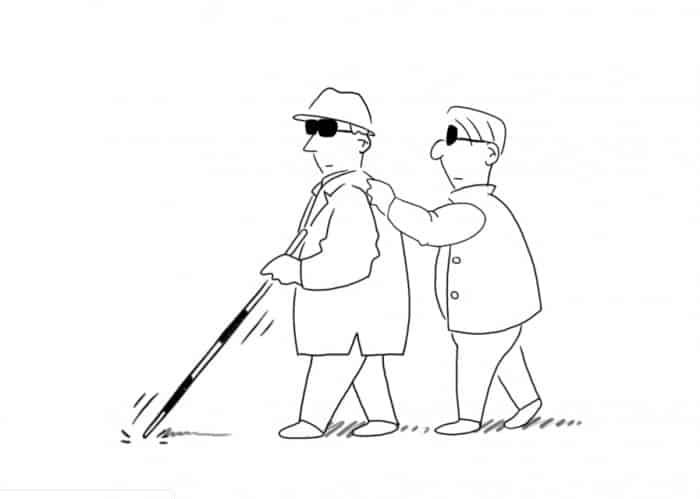 Si Belang, Si Botak dan SI Buta