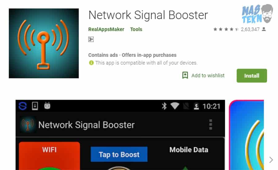 Aplikasi Penguat Sinyal-Network Booster Free