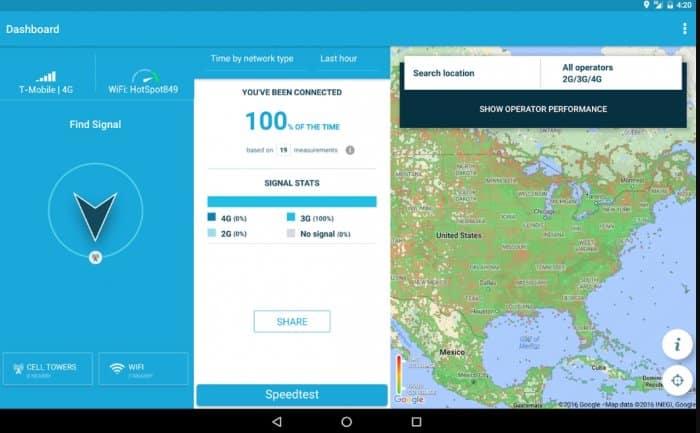 Aplikasi Penguat Sinyal-Peta Wifi 3G 4G