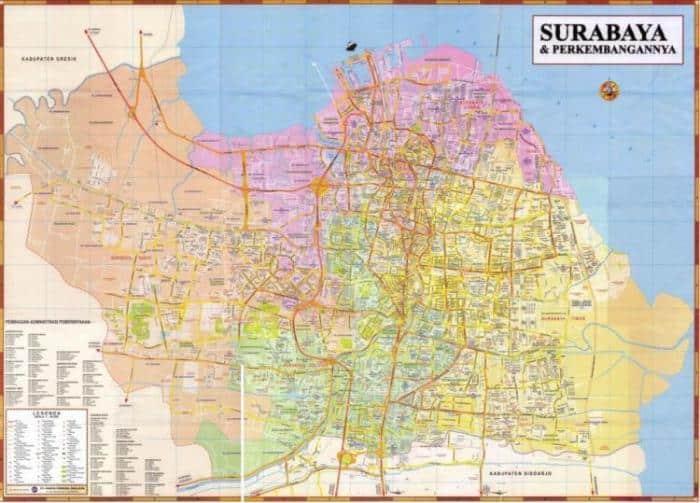 Letak Geografis Surabaya