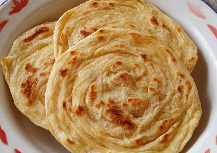 Pembuatan Resep Roti Maryam Berisi Milo