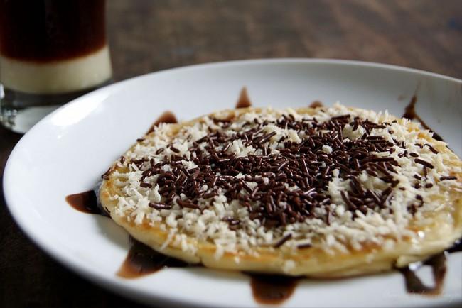 Resep memasak roti maryam dengan meses coklat