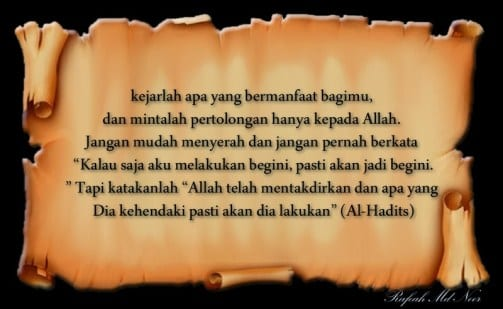 KATA KATA BIJAK DALAM ISLAM