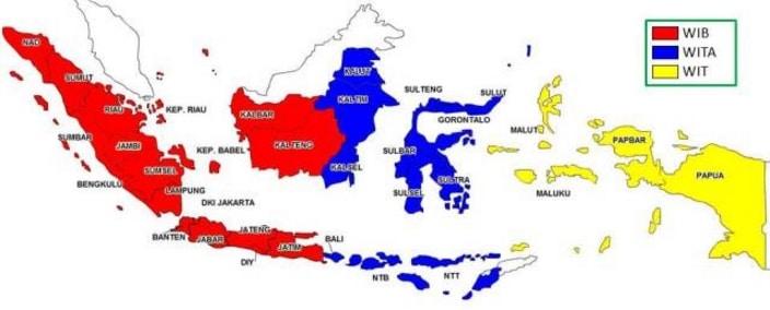 MASALAH DALAM PEMBAGIAN WAKTU NEGARA INDONESIA