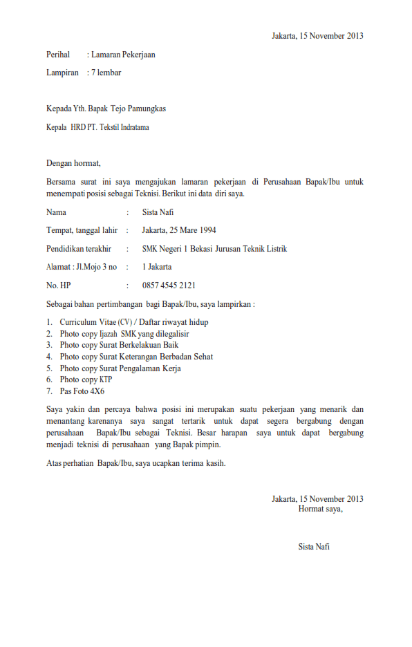 12 Contoh Daftar Riwayat Hidup Smk Guru Bidan Dll