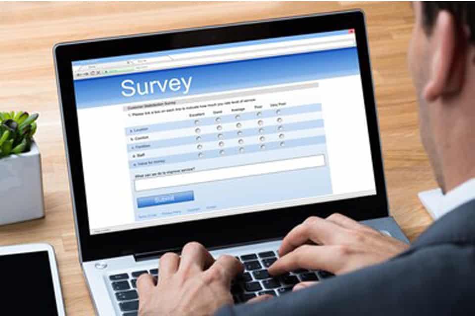 Mengisi survey online