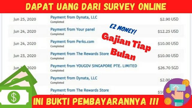 Mengikuti survey berbayar
